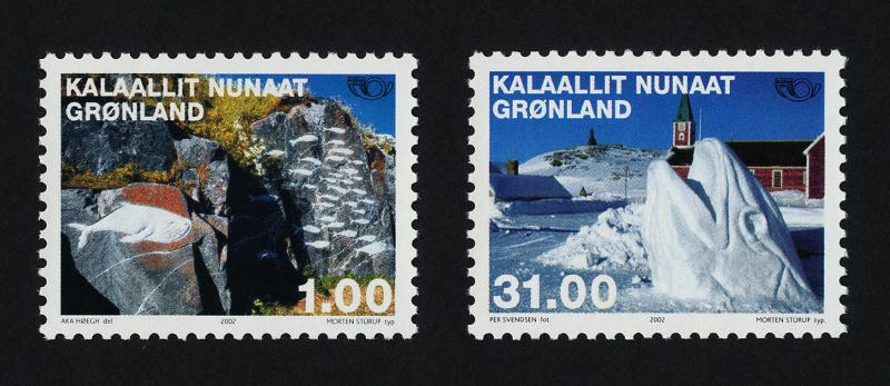 Greenland 394-5 MNH Art, Sculpture