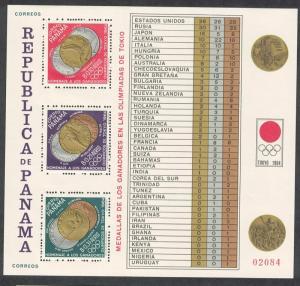 Panama Summer Olympic Games Tokyo 1964 MS SC#456k