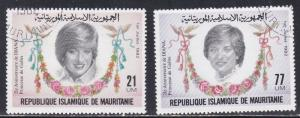Mauritania # 515-516, Princess Diana's 21st Birthday, CTO, 1/3 Cat