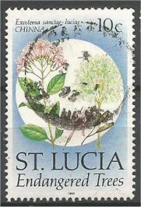 ST. LUCIA, 1990, used 10c Trees In Danger Scott 953