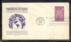US #895-4 Pan Am Union Grimsland cachet addressed