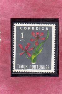 TIMOR PORTUGAL 1950 FLORA FLOWERS FLEURS FIORI 1a MNH
