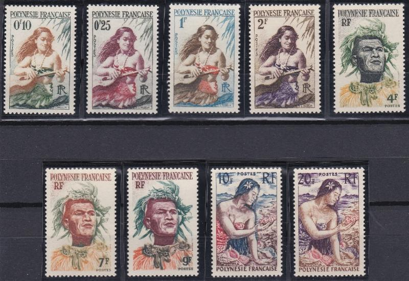 French Polynesia 182-190 MNH (1958)