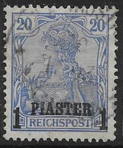 GERMAN P.O.'s IN TURKISH EMPIRE SG19 1900 1pi ON 20pf ULTRAMARINE USED