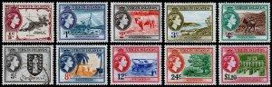 British Virgin Islands Scott 115-123, 125 (1956) Mint H VF, CV $11.35 M