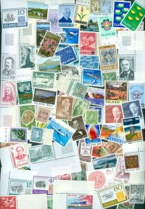 Iceland. Lot 110 Different Mnh. Modern Issues.