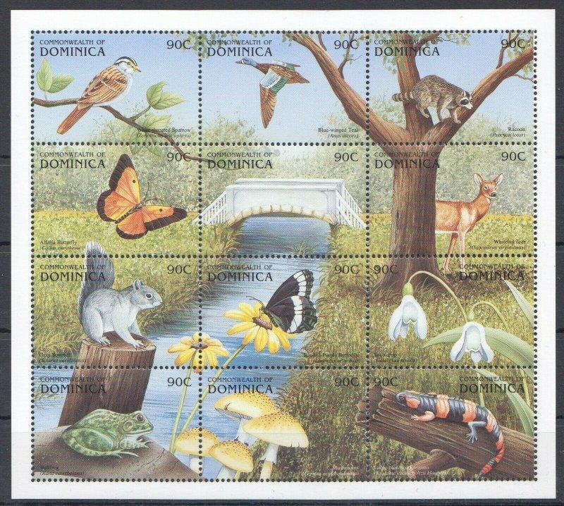 Dominica MNH S/S Birds Animals Flora Fauna