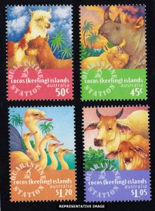 Cocos Islands Scott 319-322 Mint never hinged.