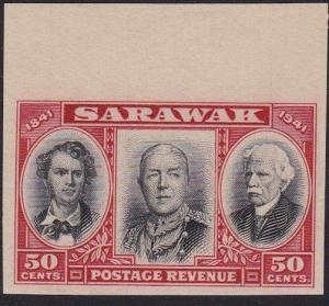 SARAWAK 1946 Centenary 50c IMPERFORATE PROOF ..............................70263