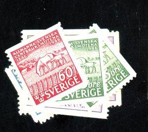 Sweden #363-68,374-6 MINT FVF OG LH Cat$20