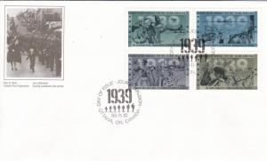 Canada # 1263a,1301a & 1348a, WWII Anniv. First Day Covers
