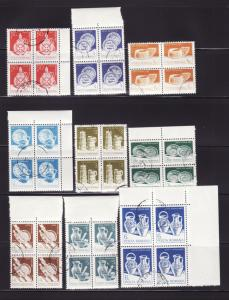 Romania 3102-3117 Blocks of 4 Set U Various, 3 Scans