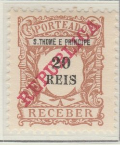 Portugal ST. THOMAS AND PRINCE ISLANDS 1911 20r MH* A5P55F25