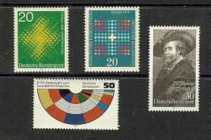 GERMANY 1045-6,1250,89 MNH VF