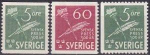 Sweden #360-2 F-VF Unused CV $7.60 (Z5250)