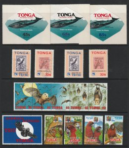 Tonga a small mainly UHM lot of thematic types