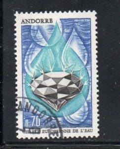 Andorra (Fr) Sc 191 1969 Water Charter stamp  used
