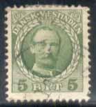 Danish West Indies ~ #43 ~ 5b Frederik VIII ~ Used