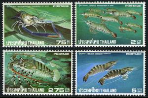 Thailand 1976,Shrimp and lobster exports  MNH set # 780-783