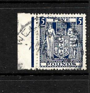 NEW ZEALAND  1931-58  5pound    ARMS   FU     SG F211