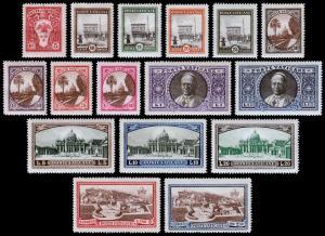 Vatican City Scott 19-29, 32-34, E3-E4 (1933) Mint LH/NH VF, CV $58.40 B