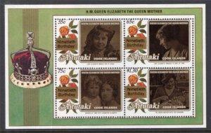Aitutaki 446 Souvenir Sheet MNH BIN