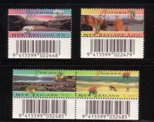 New Zealand Sc 1205-8 4 seasons stamp set mint NH