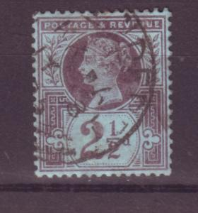 J13997 JLstamps 1887-92 great britain used #114 queen $3.50 scv