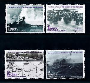 [76354] Bequia Gren. St. Vincent 2005 World War II Sinking Bismarck MNH