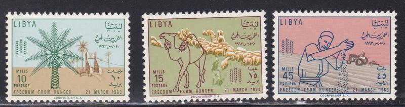 Libya # 234-236, Freedom from Hunger, NH, 1/2 Cat.