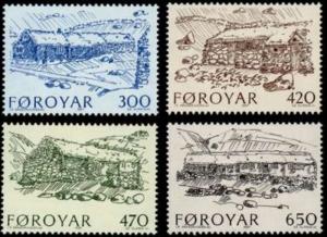 STAMP STATION PERTH Faroe Islands #152-155 Fa147-150 MNH CV$6.30