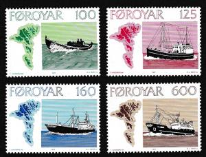 Faroe Is. Faroese Fishing Vessels 4v SG#23-26 MI#24-27 SC#24-27