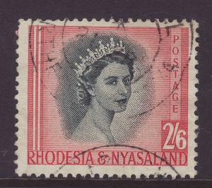 1954 Rhodesia & Nyasaland 2/6 F/Used SG12