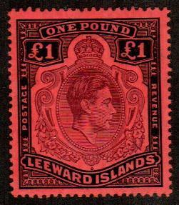 Leeward Islands #115c  Mint  Scott $27.50