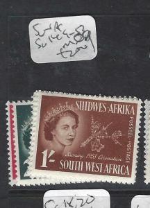 SOUTH WEST AFRICA    (P1901B)   QEII CORONATION SG 149-153   MOG
