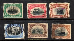 # 294-299  1901 1¢-10¢ Pan American Exposition Issue ⭐⭐⭐⭐⭐