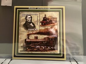 Mozambique MNH S/S Robert Stephenson & Trains 2002