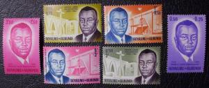 Burundi Scott #B1-B6 unused