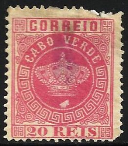 Cape Verde 1885 Scott# 11 MNG or Used ( top right, bottom corner)
