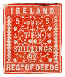 (I.B) QV Revenue : Ireland Registration of Deeds 10/-