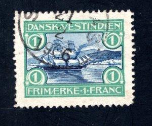 Danish West Indies #37,  VF/XF,  Used,   CV $40.00 ....1630037