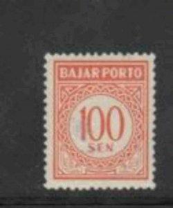 INDONESIA #J78 1958 100s POSTAGE DUE MINT VF NH O.G