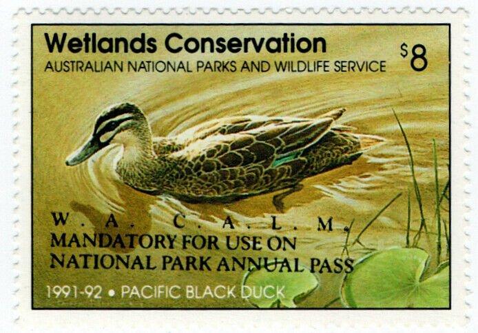(I.B) Australia Cinderella : Wetlands Conservation $8 (National Park)