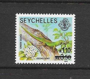 SEYCHELLES #446  GREEN GECKO  RE-VALUED  MNH