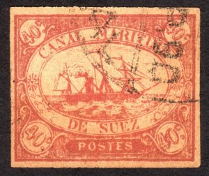 1868, Egypt Suez Canal 40c, Used, Sc L4