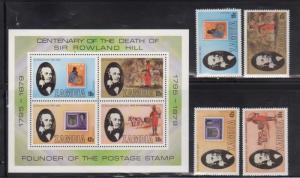 Zambia 204-7A Rowland Hill Mint NH