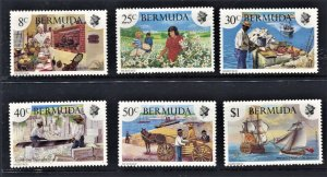 STAMP STATION PERTH - Bermuda #423-428 QEII General Issue MLH CV$9.50