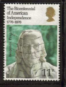 Great Britain Sc 785 1976 Ben Franklin stamp used