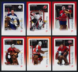 Canada 2873-8 MNH NHL Hockey, Great Canadian Goalies, Sport