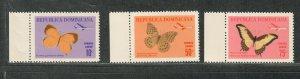 Dominican Republic Sc#c146-c148 M/NH/VF, Butterflies, Cv. $30.25